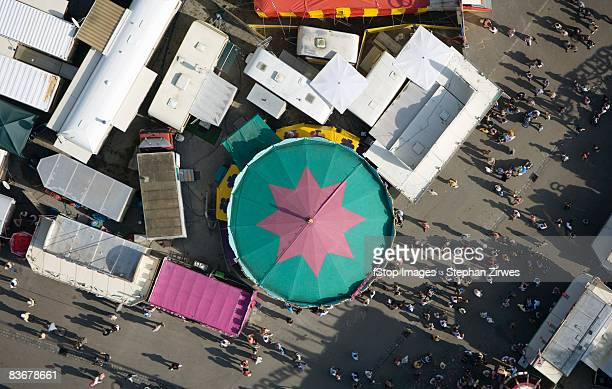Aerial view of a fairground, Germany