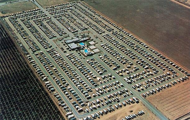 Huge 1950s RV Trailer Park