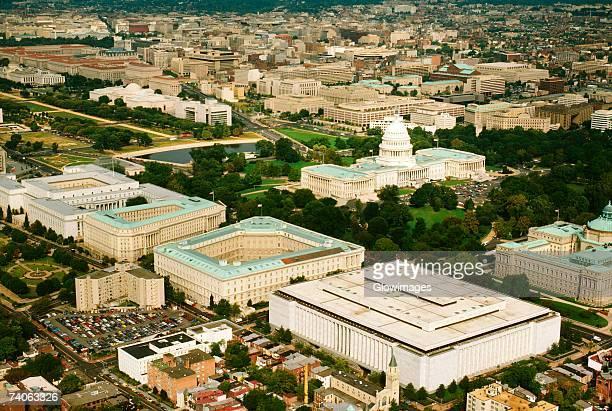 Aerial view of a government building, House Of Representatives, Washington DC, USA