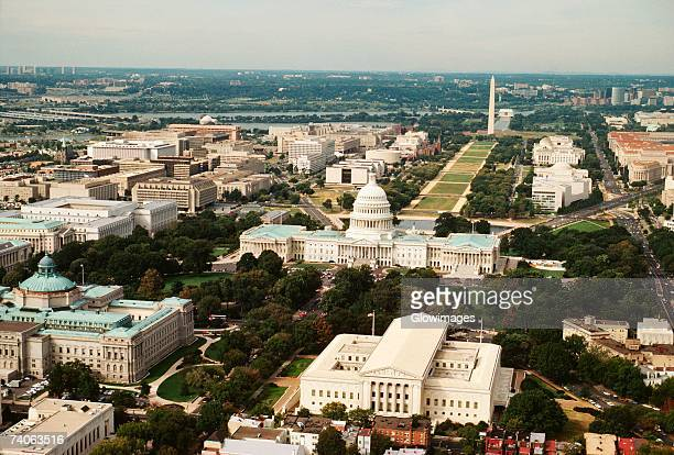 aerial view of a government building, washington dc, usa - washington dc stock pictures, royalty-free photos & images