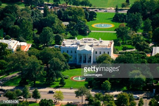 Aerial view of a government building white house for Building a house in washington state