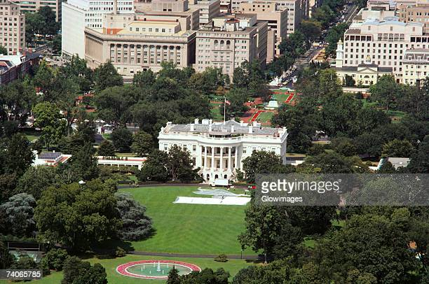 aerial view of a government building, white house, washington dc, usa - casa branca washington dc - fotografias e filmes do acervo