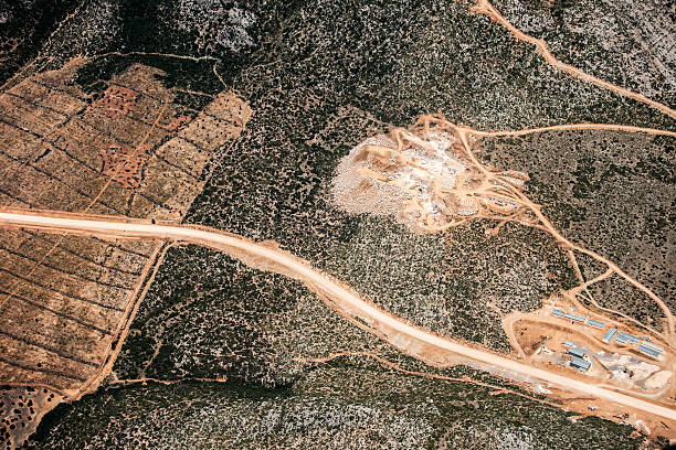 Aerial View Of A Gravel Mine Wall Art