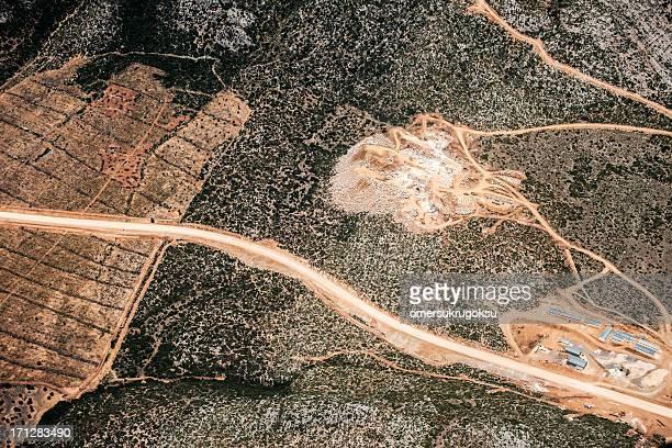 Luftbild von Schotter Mine