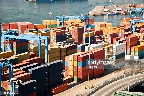 Luftaufnahme von Hafen
