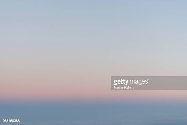 aerial view of a hazy sunset - soft focus stock pictures, royalty-free photos & images