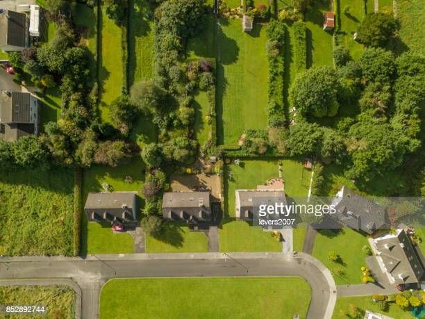 aerial view of a housing estate - grounds stock pictures, royalty-free photos & images