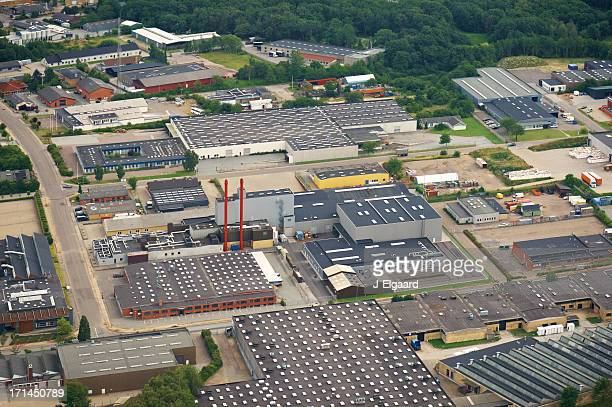 aerial view of a industry zone - downtown district stock pictures, royalty-free photos & images
