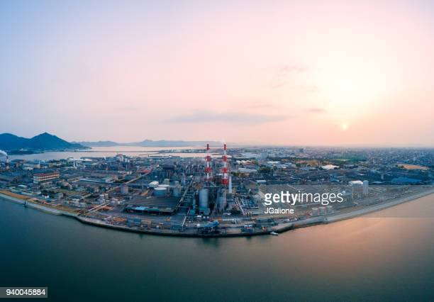 Aerial view of a Japanese petrochemical plant