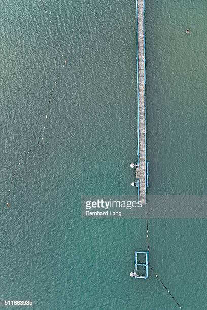 Aerial View of a jetty at the sea
