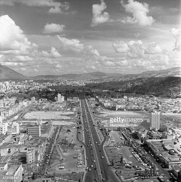 'Aerial view of a main street Caracas January 1958 '