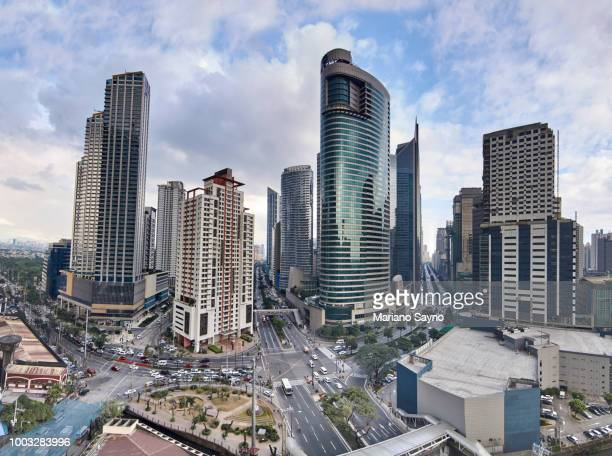 aerial view of a makati district - manila philippines stock pictures, royalty-free photos & images