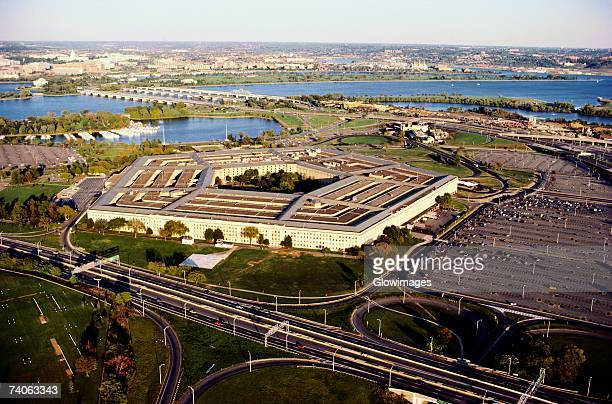 Aerial view of a military building, The Pentagon, Washington DC, USA