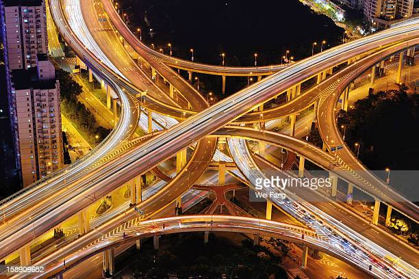 Aerial View of A Multi-Level Stack Interchange