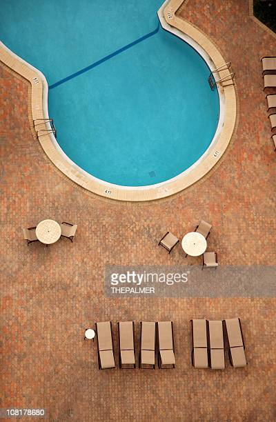 aerial view of a pool
