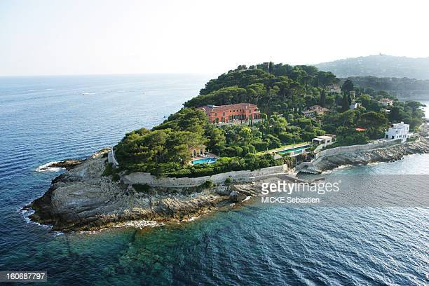 Aerial view of a property in SaintJeanCapFerrat on the Cote d'Azur seduced by this villa which was not for sale a Russian man offers to buy 90...