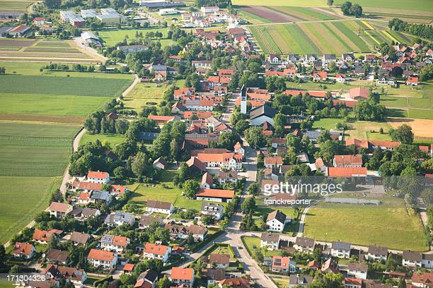 Aerial view of a suburban place in Germany