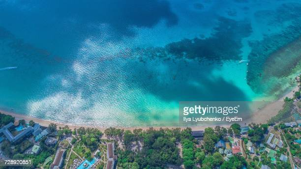 Aerial View Of A Sunny Beach
