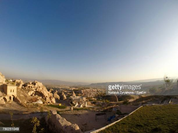 aerial view of a town - central anatolia stock photos and pictures