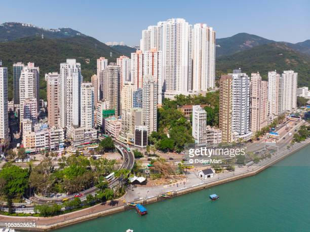 Aerial view of Aberdeen in Hong Kong