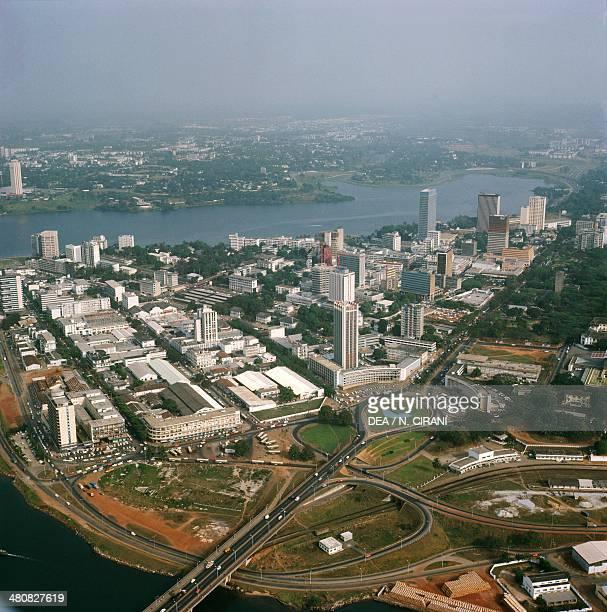 Aerial view of Abidjan, Cote d'Ivoire