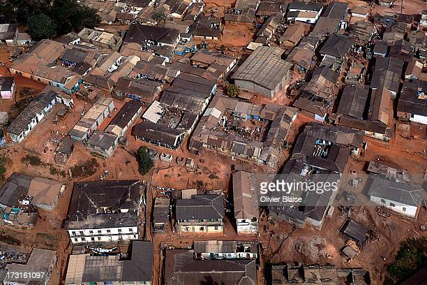 CONTENT] Aerial view of Accra capital of Ghana Originally built around a port it served as the capital of the Britishruled Gold Coast between 1877...
