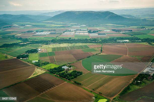 aerial view of african farmland - gauteng province stock pictures, royalty-free photos & images