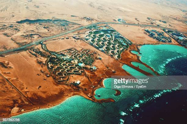 aerial view of agricultural landscape - north africa stock pictures, royalty-free photos & images