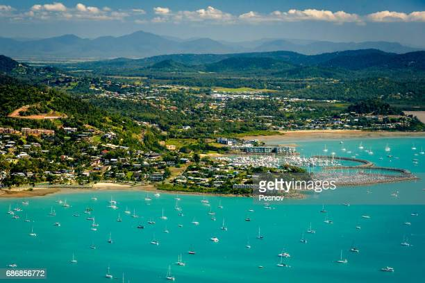 Aerial view of Airlie Beach