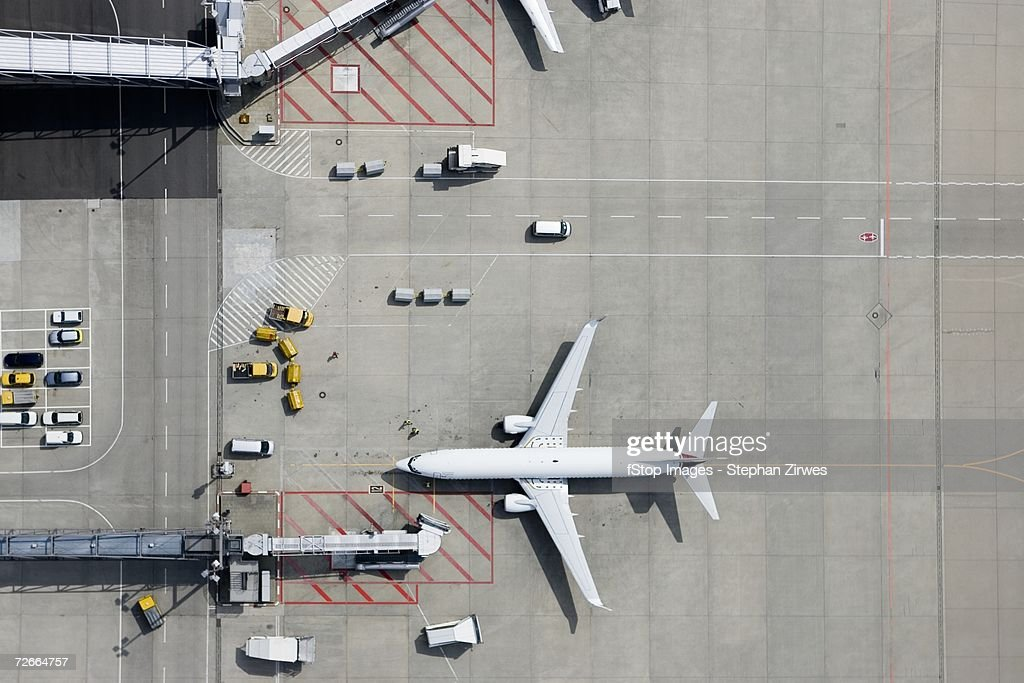 Aerial view of airplane : Stock Photo