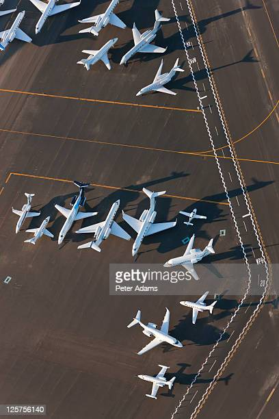 Aerial view of Airplanes, New York, USA
