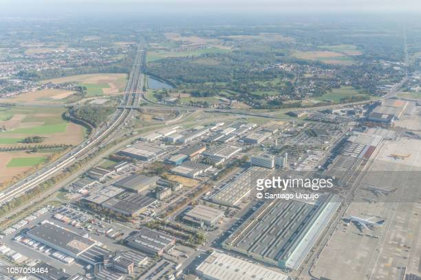 Aerial view of airport of Brussels