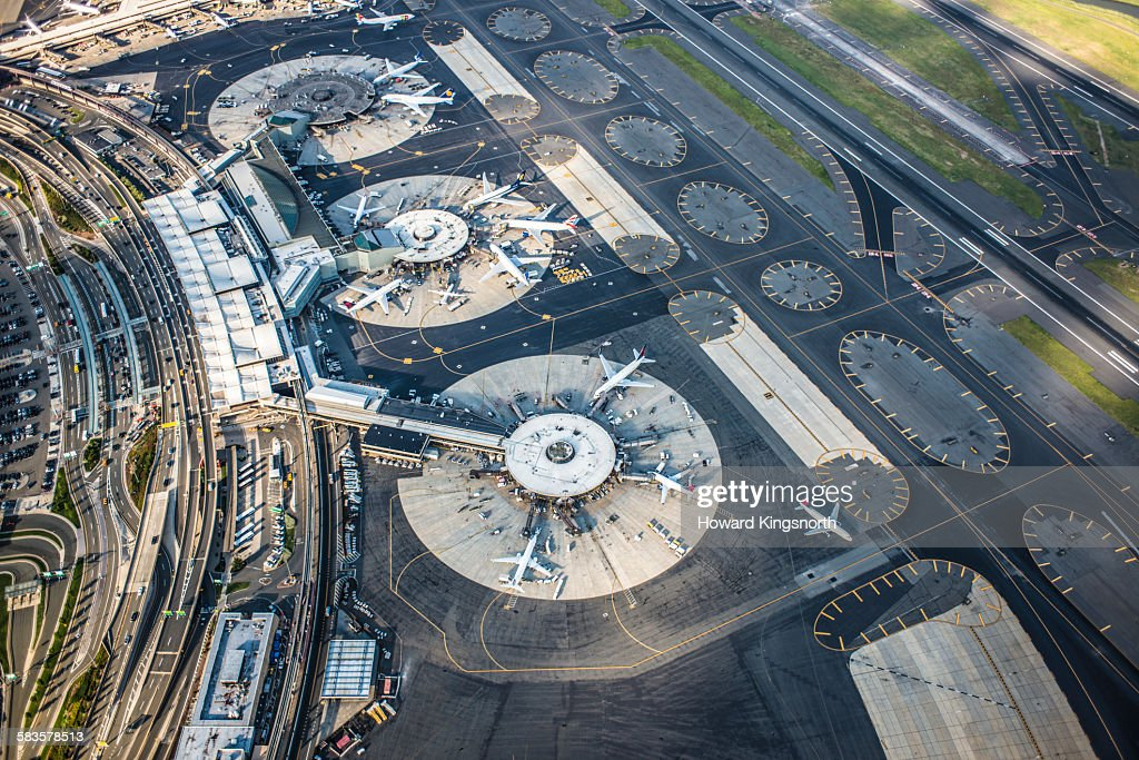 aerial view of airport : Stock Photo
