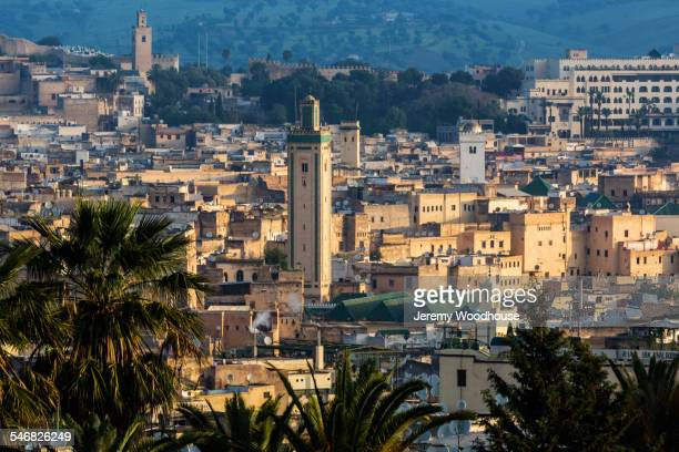 Aerial view of Al Madinah cityscape, Fez, Morocco
