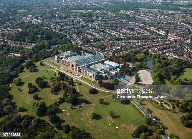 Aerial view of Alexandra Palace London UK United Kingdom