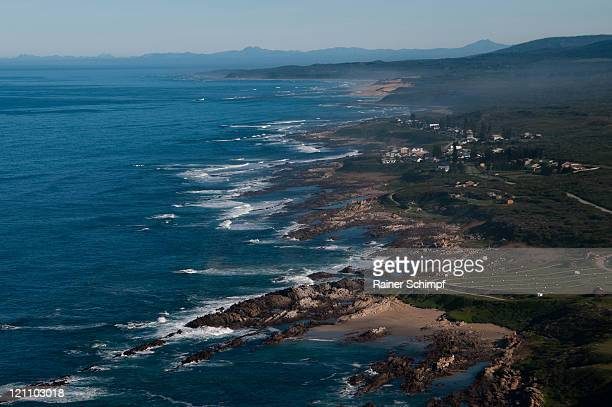Aerial view of Algoa Bay coastline, Port Elizabeth, Eastern Cape Province, South Africa