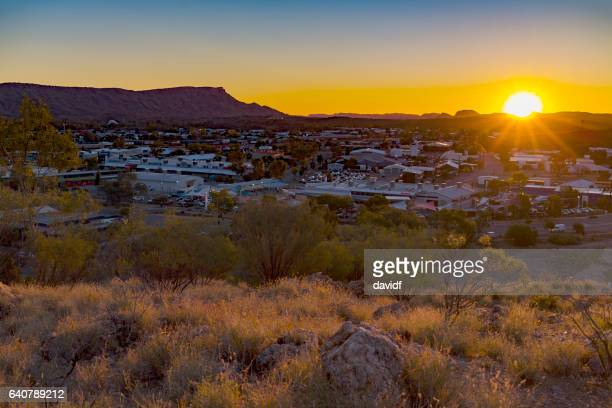 Aerial View of Alice Springs, Northern Territory, Australia