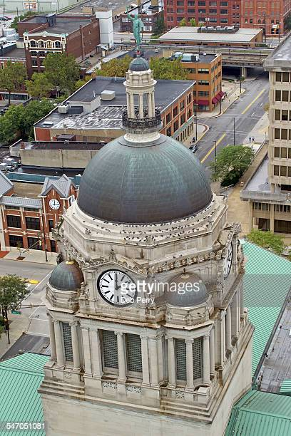 Aerial view of Allen County Courthouse