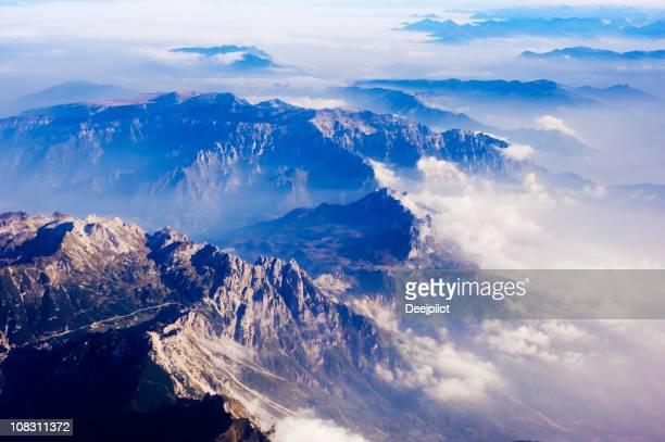 Luftbild von Alpine Ridge