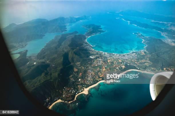 Aerial view of Amami Oshima Island, Kagoshima, Japan