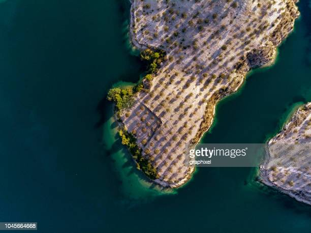 Aerial View of Amazing Natural Shapes and Textures