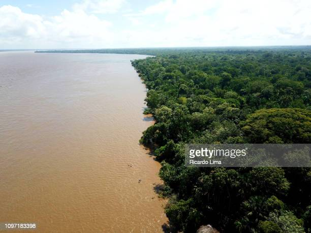 Aerial View Of Amazon Rainforest