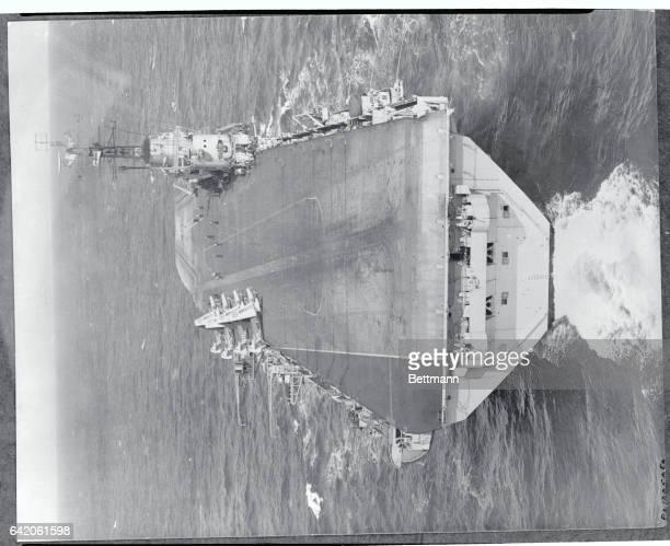 Aerial View of an Aircraft Carrier's Flight Deck
