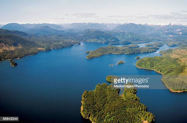 Aerial view of an island, Ketchikan, Inside Passage, Alaska, USA