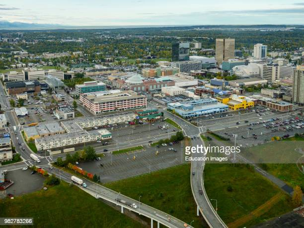 Aerial View of Anchorage South Central Alaska United States of America
