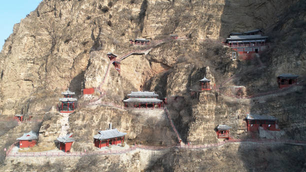 CHN: Ancient Taoist Temples On Cliff In Hebei