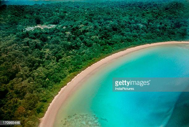 Aerial view of Andaman and Nicobar islands India