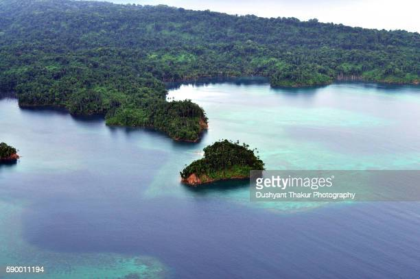 Aerial view of Andaman Islands.