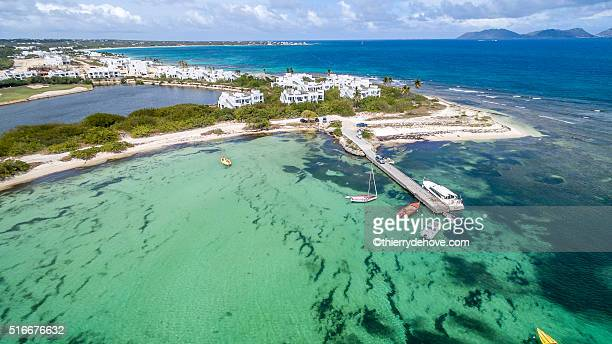 Aerial view of Anguilla Beach