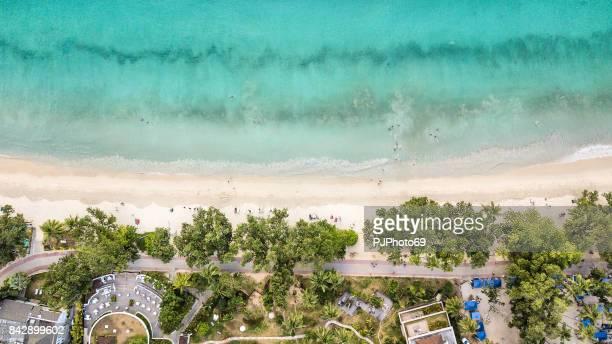 Aerial view of Anse Beau Vallon - Mahe - Seychelles